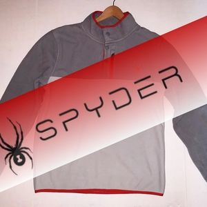 SPYDER Quilted Pullover Fleece Sweater